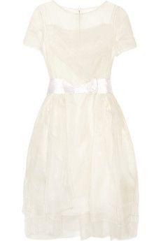 Lanvin Layered silk-organza dress | NET-A-PORTER