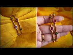 Gold Bangles Design, Jewelry Design, Gold Jewelry, Gold Necklace, Jewellery, South India, Fashion Jewelry, Jewels, Drop Earrings