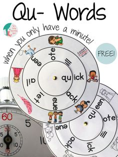 These free word wheels will help your little ones practice their Qu- words!