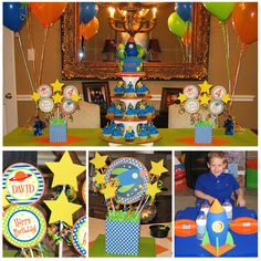 Rocket to Space Party - Birthday Printables - Huge Rocket Party Set by Amanda's Parties To Go $29