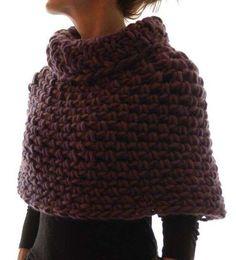 Bufandas de crochet: Fotos de diseños - Original bufanda de crochet para el invierno