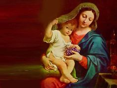 pictures of Mother of God - Google Search Mother Mary Wallpaper, Jesus Wallpaper, Jesus And Mary Pictures, Mother Pictures, 1 John, Jesus Christ, Painting, Wallpapers, God