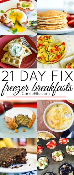 21 Day Fix Freezer Breakfasts - make these breakfasts in advance and grab them on-the-go!