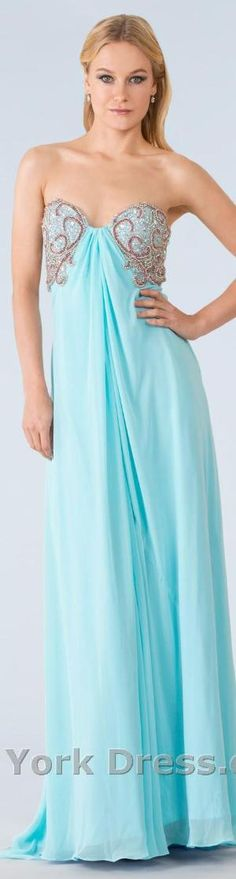 Jasz Couture 4827 #strapless #aqua #large #dress by Divonsir Borges