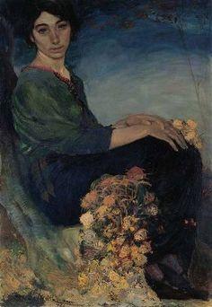 RITRATTO DELLA SORELLA ANITA (1915), Mario Delitala