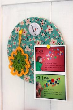 round fabric covered corkboard tile