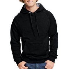Hanes Men's Nano Premium Soft Lightweight Fleece Pullover Hood, Size: XL, Black