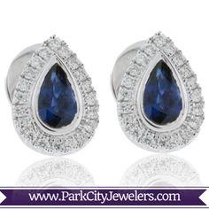 9029beab0 Sapphire & Diamond Stud Earrings Diamond Studs, Sapphire Diamond, Best  Jewelry Stores, Sapphire