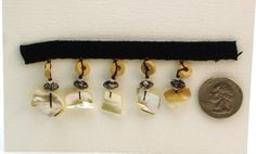 Shell Beaded Trim by the Yard by MoonwatersAttic on Etsy