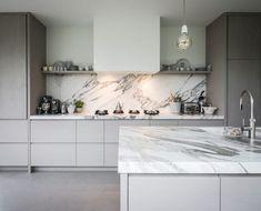 piet-jan-van-den-kommer-tailor-made-wooden-kitchen-worktop-made-from-marble-k - The world's most private search engine Interior Modern, Kitchen Interior, Home Interior Design, Kitchen Decor, Luxury Kitchens, Home Kitchens, Tuscan Kitchens, Wooden Kitchen, Cuisines Design
