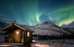 Gotta rent this cabin in Alaska!