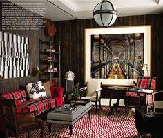 Design - Tapetes e Sensações:  Apartamento em Manhattan, EUA. Projeto por…