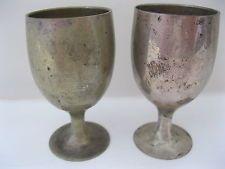 godinger silver goblets   ... Leonard E.P.N.S. Shot Glass Wine Goblets Electro Plate Nickel Silver