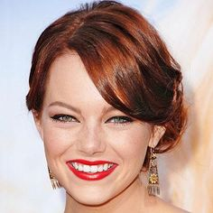 Party Hairstyles - Emma Stone from #InStyle
