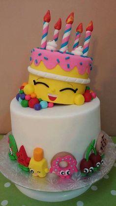 Shopkins cake I made! Shopkins cake I made! Bolo Shopkins, Shopkins Birthday Cake, Birthday Cake Girls, 7th Birthday, Funny Birthday, Birthday Ideas, Happy Birthday, Pretty Cakes, Cute Cakes