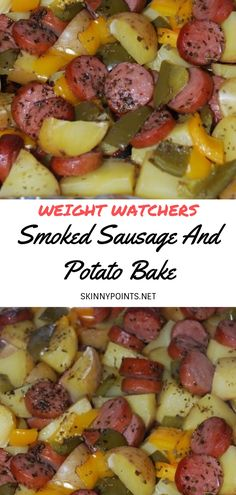 Pin on Weight Watchers Meals Oct 21 2019 Smoked Sausage And Potato Bake Skinny Recipes, Ww Recipes, Pork Recipes, Cooking Recipes, Healthy Recipes, Recipies, Light Recipes, Potato Recipes, Healthy Foods