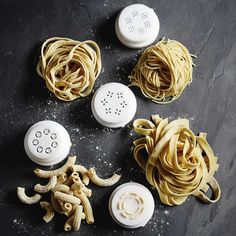 Exclusive to Williams Sonoma, this deluxe version of the popular Philips Pasta Maker comes with eight discs to create even more pasta shapes, from angel hair to tagliatelle to pappardelle. Phillips Pasta Maker Recipes, Pasta Shapes, Angel Hair, Cooking Chef, Homemade Pasta, Biscotti, Cos, Pane, Gadgets
