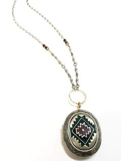 Aztec Locket necklace – TOODLEBUNNY