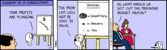 Right, right, right - The Dilbert Strip for June 5, 1991