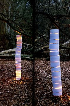 Stunning 'spine light' made from hand-rolled ceramic. English. Made to order.