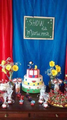 Decoração mesa do bolo tema Show da Luna ! Por #donnakellyatelie