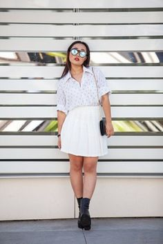 Lovely white look by @hoursminutesseconds on Befitted