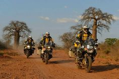 BMW R 1200 GSA. One of the risks with standing up to ride under the African sun, is the seat can get too hot to sit down.