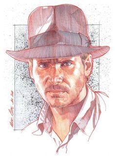 Indiana Jones - Art by Mark Raats 2014