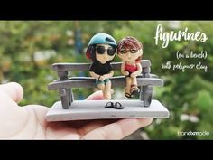 Polymer Clay Figurines Sitting on a Bench Tutorial