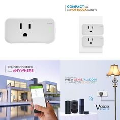 Home SMART Home. The magic comes from this smart socket. With a simple and easy app you can control your lighting from any location. Amazon Dot, App Control, Home Gadgets, Home Automation, Smart Home, Wifi, Usb Flash Drive, Remote, Life Hacks
