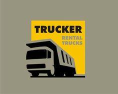 logo, one color, bold, illustration, cutout, truck, positive negative