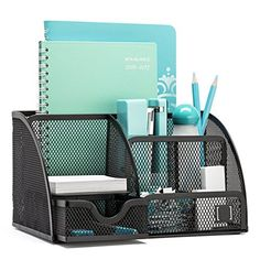 Mindspace Office Desk Organizer with 6 Compartments + Drawer + Pen & Pencil Holder Dorm Room Storage, Desk Organization Diy, Diy Desk, Desk Accessories, My New Room, Organizer, Office Decor, Office Ideas, Ikea Office