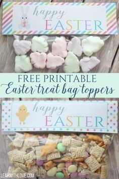 Free peeps printable gift bag topper free printable easter and bag happy easter treat bag toppers negle Image collections