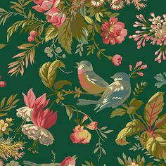 Cotton Quilting Fabric, Cotton Quilts, Hancocks Of Paducah, Laundry Basket Quilts, Andover Fabrics, Floral Fabric, Bird Fabric, Earth Tones, Painting