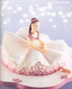 Debbie Brown's ballerina cake. A nice change from half a Barbie stuck into a dome
