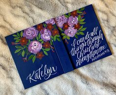 Your place to buy and sell all things handmade Bible Covers, Painting Flowers, Bible Journal, Christian Gifts, Canvas Ideas, Bible Art, How To Better Yourself, Art Journaling, Customized Gifts