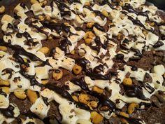 Kjøkkenglede: Peanøtt og sjokolade brownies med marsmellows