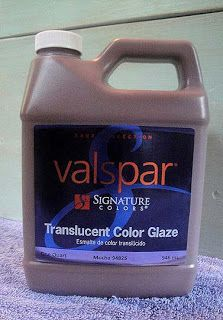 Glaze to add an antiqued look