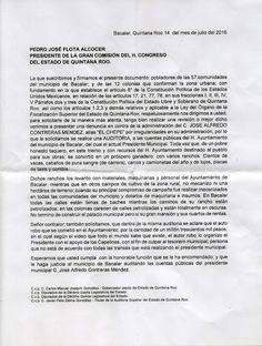 Periodismo sin Censura: El pueblo de Bacalar pide cárcel para de José Alfr...