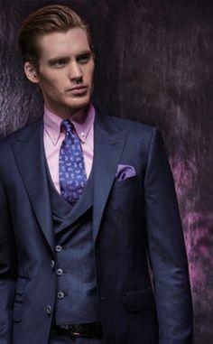 4eed8f28 3 Piece Suits, Three Piece Suit, Dark Navy Suit, Blue Suit Wedding,  Waistcoat Men, Mens Fashion Wear, Suit Shirts, Suit Vest, Bespoke Tailoring