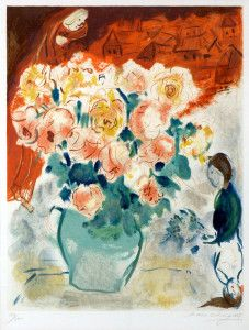 Marc Chagall - Le Bouquet  (The Bouquet), 1955  Masterworks Fine Art