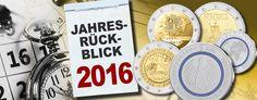 Das war 2016 - Jahresrückblick Münzen – das waren die numismatischen Highlights des Jahres 2016