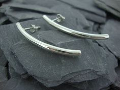 arc stud earrings by summer and silver | notonthehighstreet.com