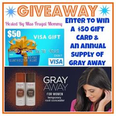 $50 Gift Card & Annual Supply of Gray Away #Giveaway It's summer! And that means more time at the beach and less time at the salon. Touching up gray roots every few weeks is expensive and time consuming, but Gray Away provides women with a secret weapon in their beauty arsenal.