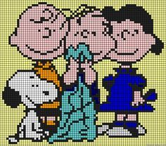 Peanuts perler bead pattern - try for cross stitching ?!