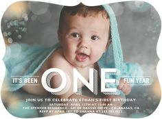 Fantastic Flares - Birthday Party Invitations - Stacey Day - Sea Glass Green #TopPin #baby