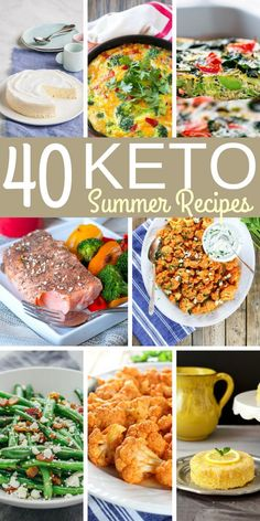 40 Keto Summer Recipes | These Keto recipes are prefect for summer and a delicious way to stick to a ketogenic diet.