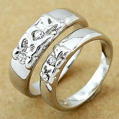 anel de casamento do casal de prata (cor aleatória, um par) – BRL R$ 7,73