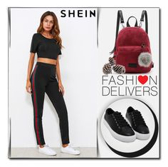 """SheIn 3 / XVI"" by selmamehic ❤ liked on Polyvore"