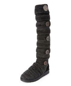 Look at this #zulilyfind! Dark Gray Side-Button Miranda Slipper Boot - Women by MUK LUKS #zulilyfinds